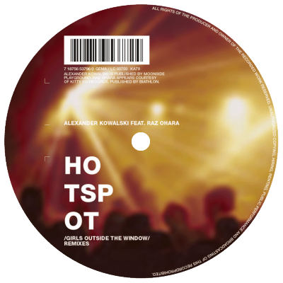 ka079 | 12″ <br>ALEXANDER KOWALSKI WITH RAZ OHARA <br>Hot Spot Remixes <br>THE ADVENT | JESPER DAHLBÄCK