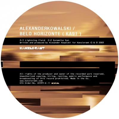 ka091 | 12″ <br>ALEXANDER KOWALSKI <br>Belo Horizonte