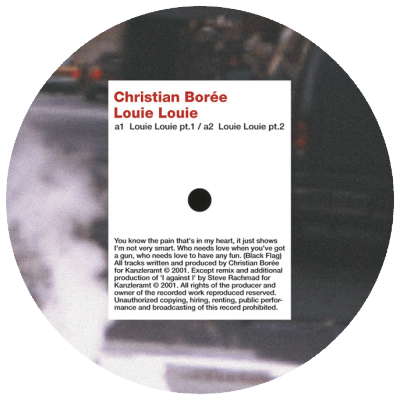 ka054 | 12″ <br>CHRISTIAN BOREE <br>Louie Louie <br>STERAC